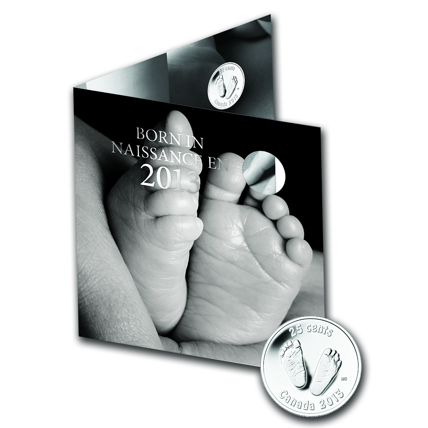 2013 5-Coin Newborn Baby Gift Set (w/Footprint Quarter & Card)