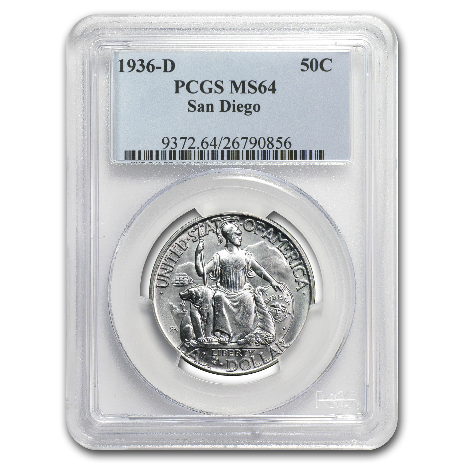 1936-D San Diego Exposition MS-64 PCGS