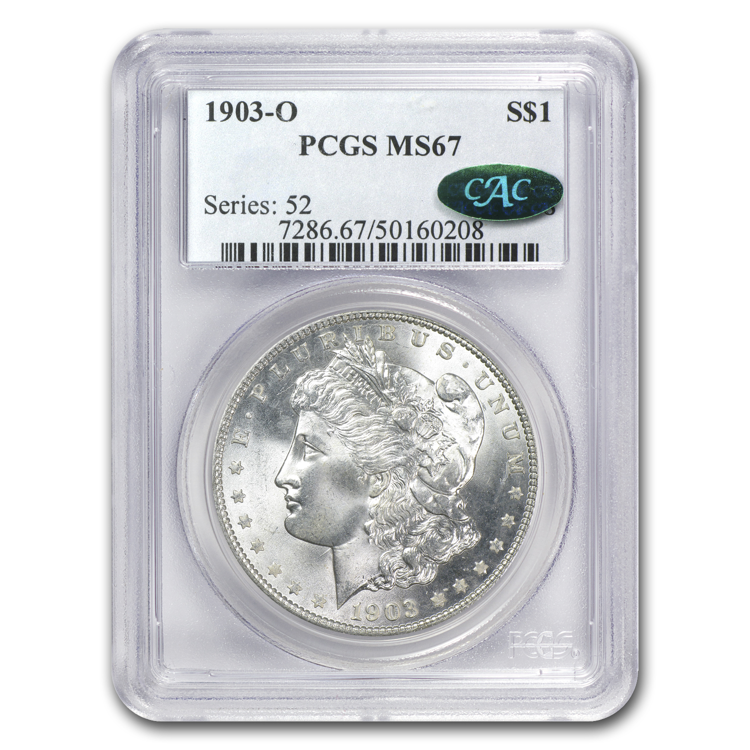 1903-O Morgan Dollar MS-67 PCGS (CAC)