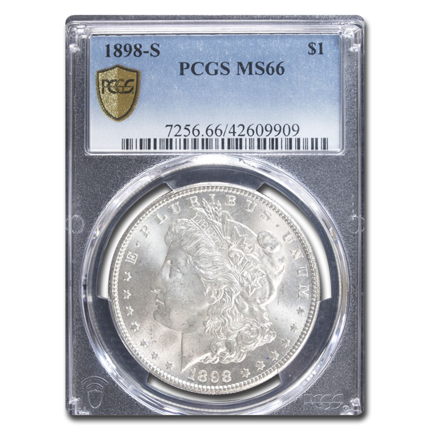 1898-S Morgan Dollar MS-66 PCGS
