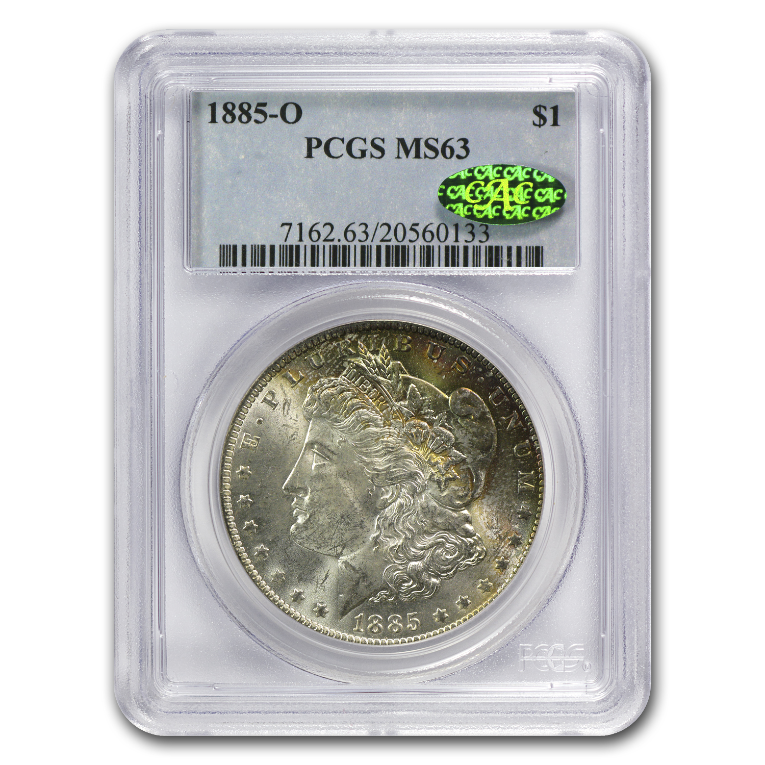 1885-O Morgan Dollar MS-63 PCGS - Nice Toning - CAC