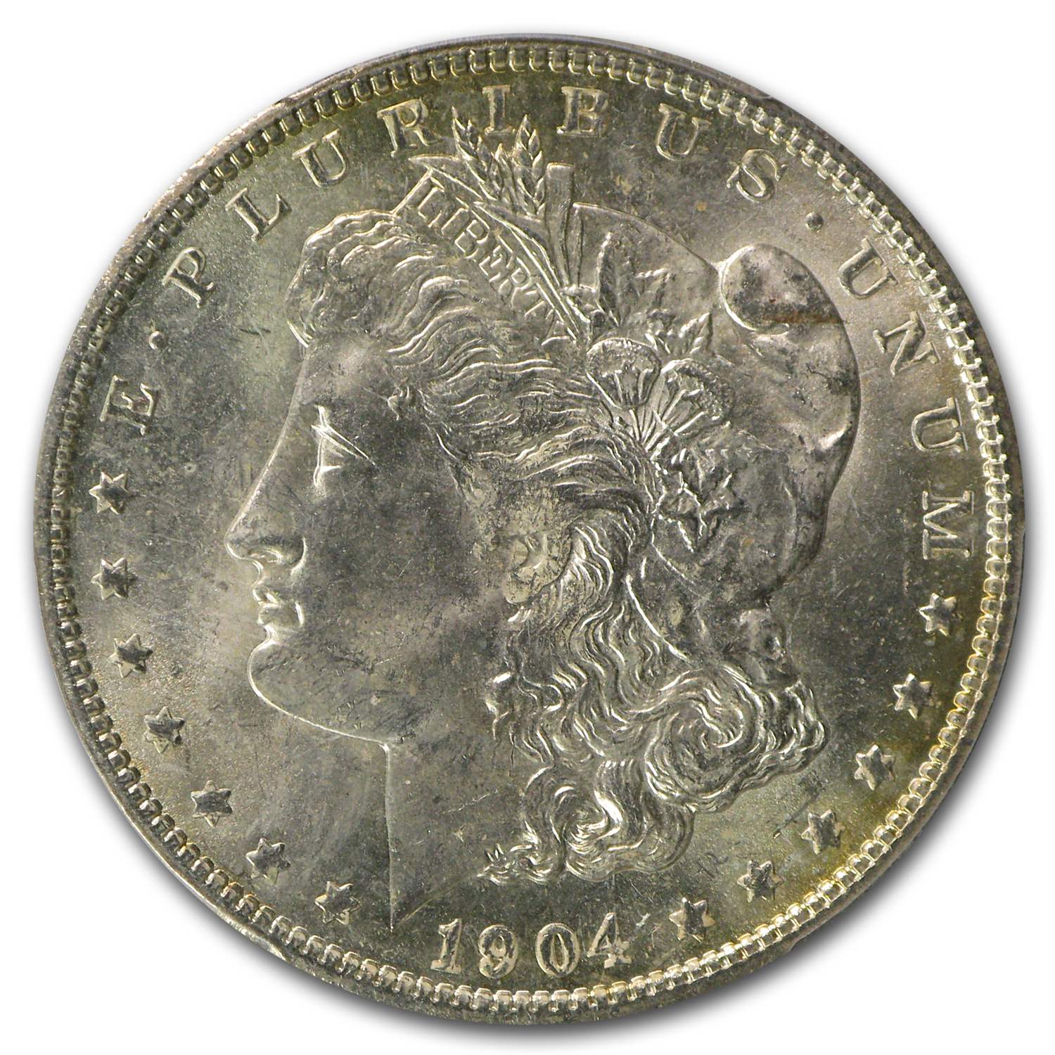 1904-O Morgan Dollar MS-63 PCGS (Nice Toning, CAC)
