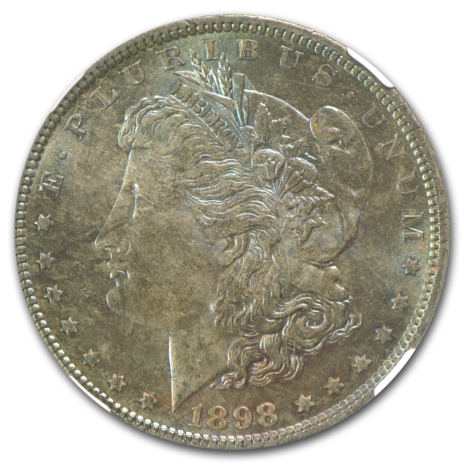 1898 Morgan Dollar MS-64 NGC (Nice Toning,CAC)