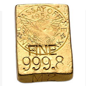 5.13 oz Gold Bar - 1959 NY Assay Office Ingot (999.8 Fine)