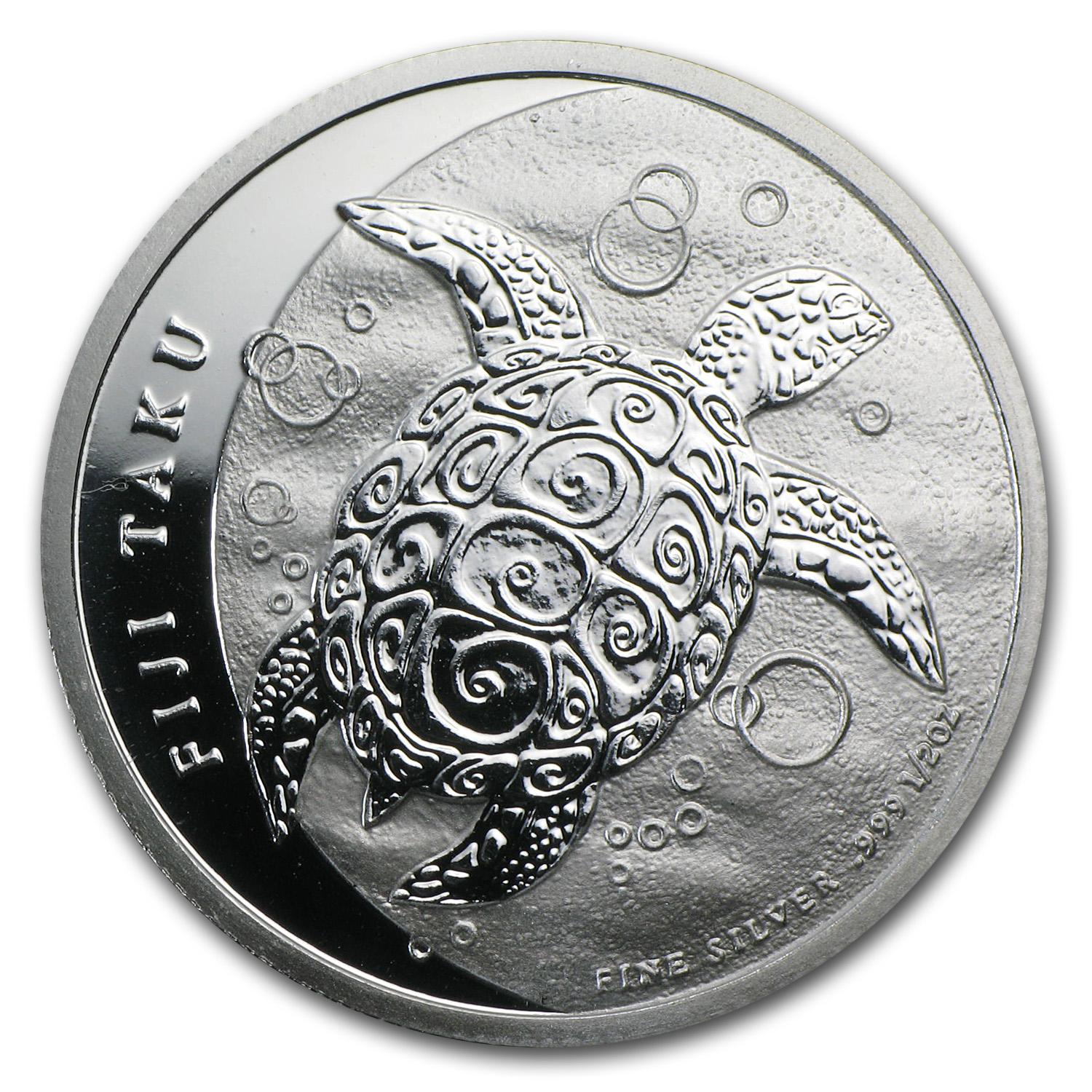 2013 1/2 oz Silver New Zealand Mint $1 Fiji Taku