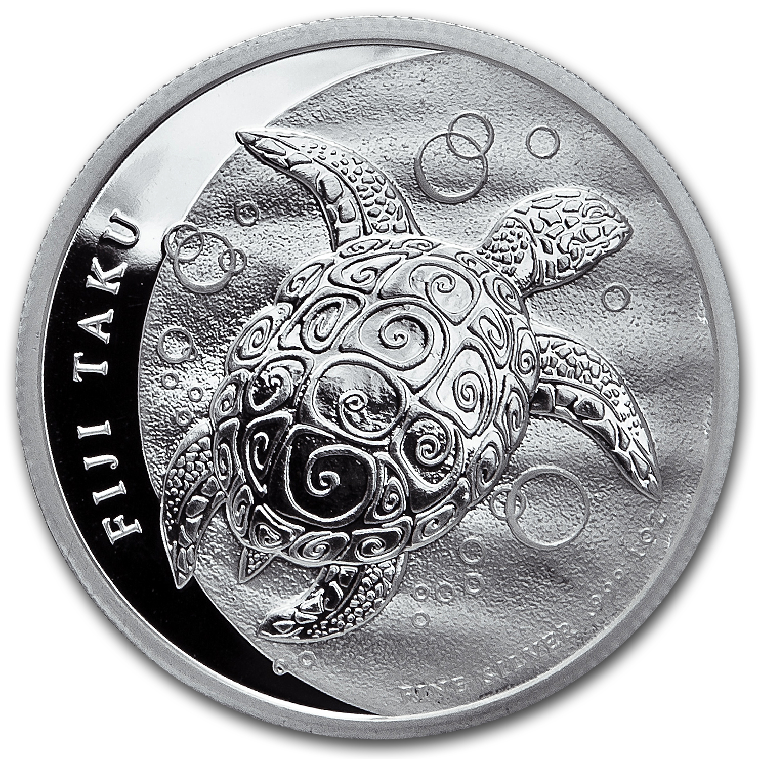 2013 1 oz Silver New Zealand Mint $2 Fiji Taku BU