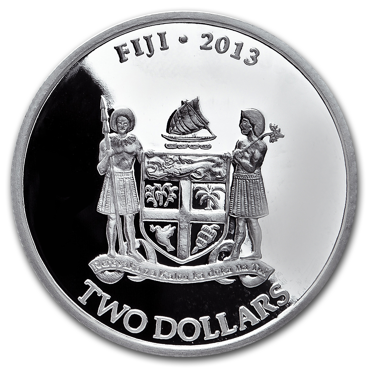 2013 1 oz Silver New Zealand Mint $2 Fiji Taku .999