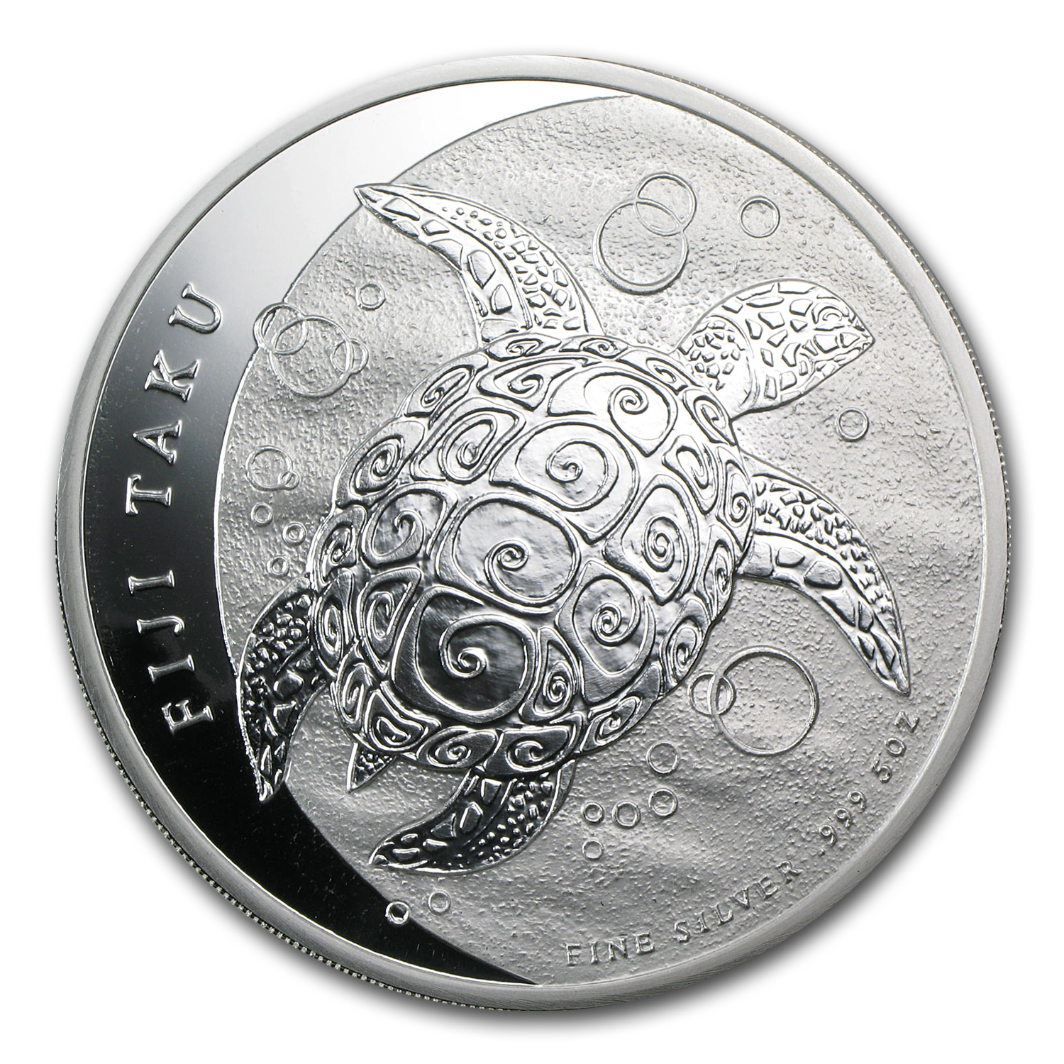 2013 5 oz Silver New Zealand Mint $10 Fiji Taku
