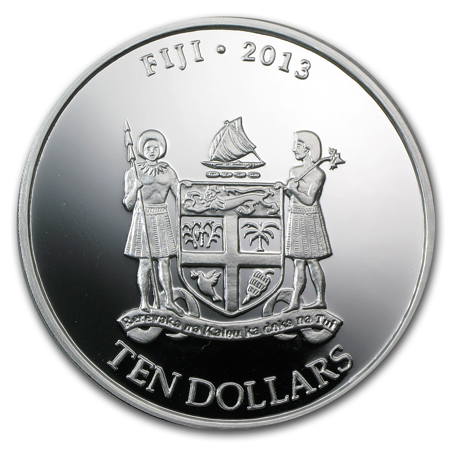 2013 5 oz Silver New Zealand Mint $10 Fiji Taku BU