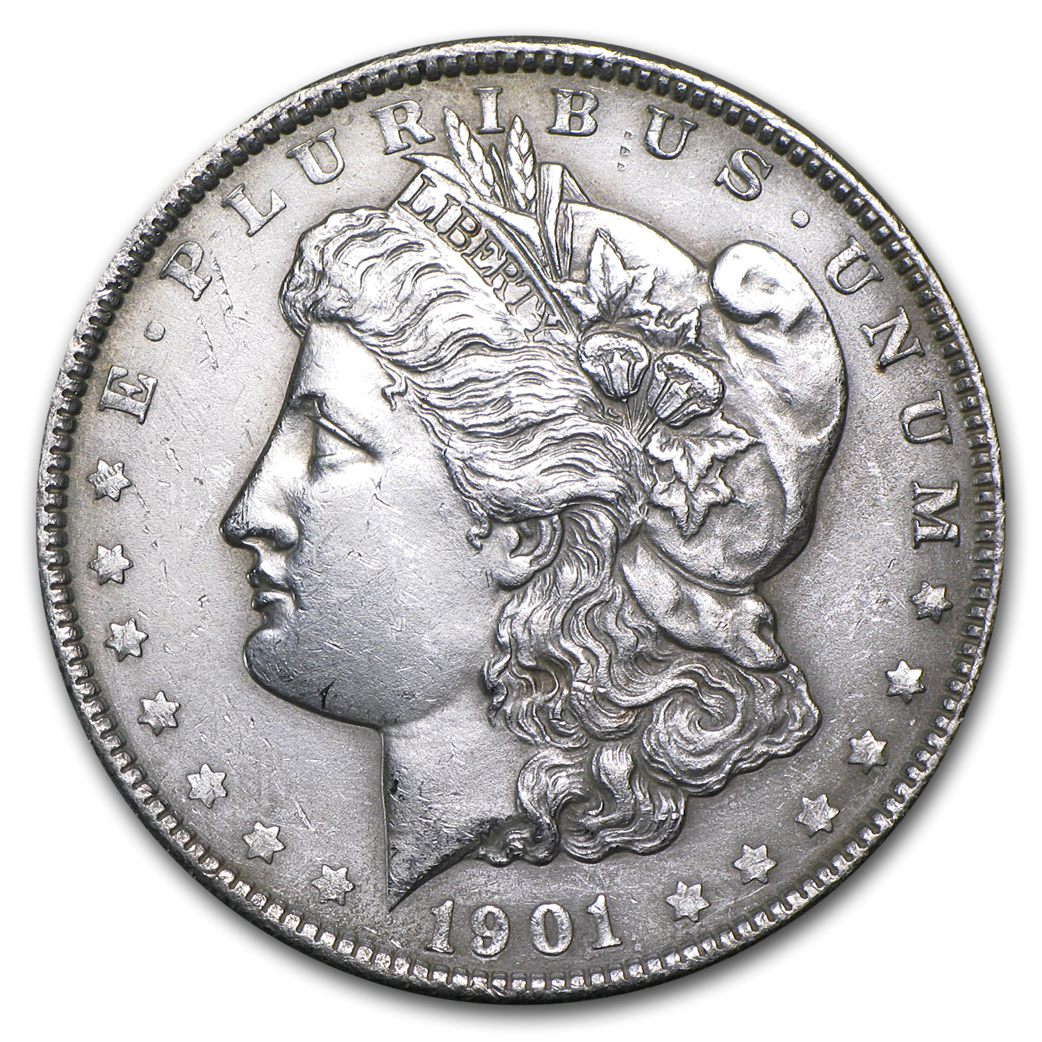 1901 Morgan Dollar - Brilliant Uncirculated - Cleaned