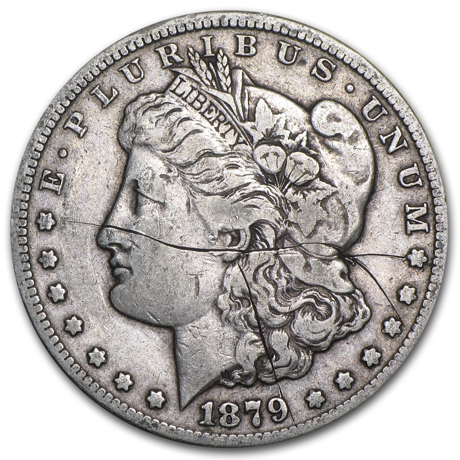 1879-CC Morgan Dollar Clear CC VF Details (Scratches)