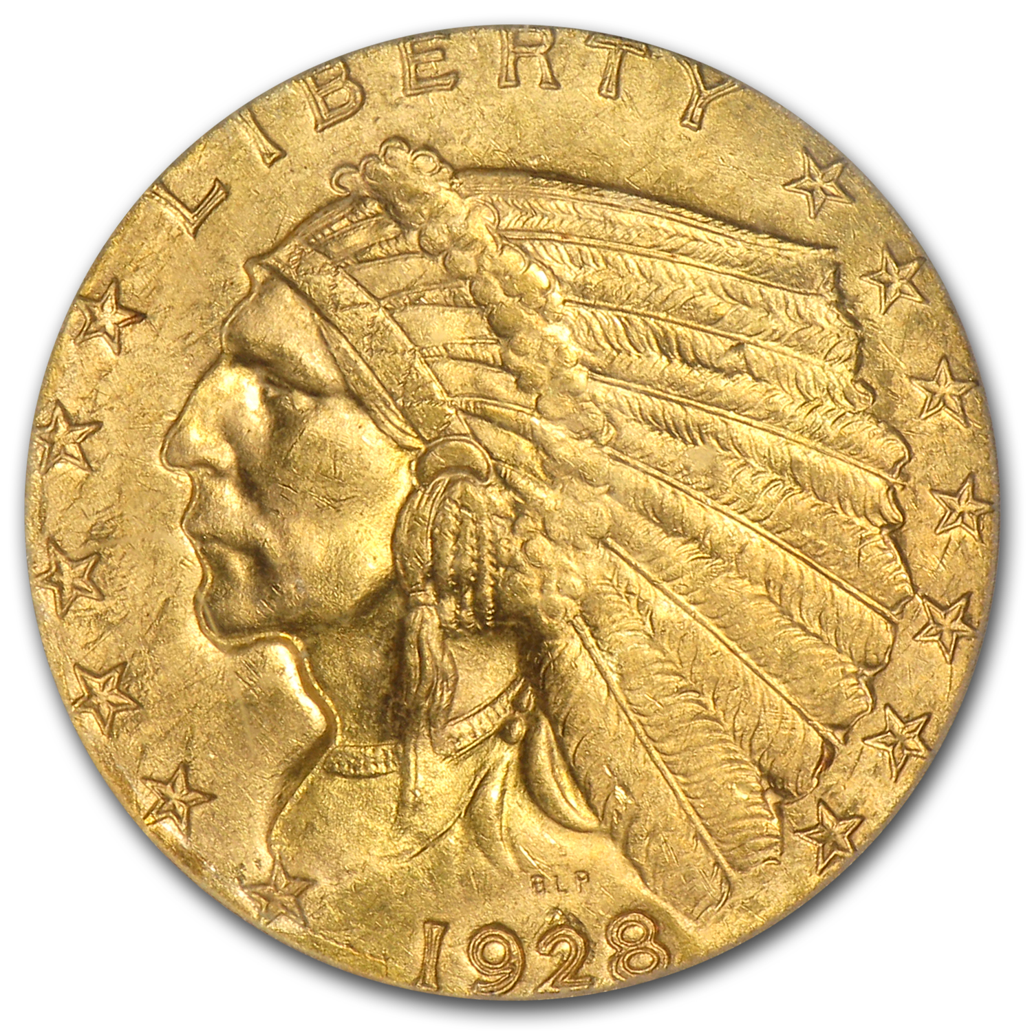 1928 $2.50 Indian Gold Quarter Eagle MS-64+ PCGS CAC