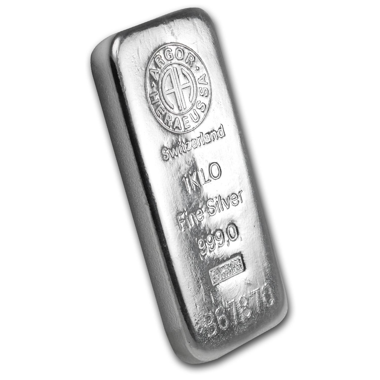 1 Kilo Silver Bar Argor Heraeus Switzerland Kilo 32