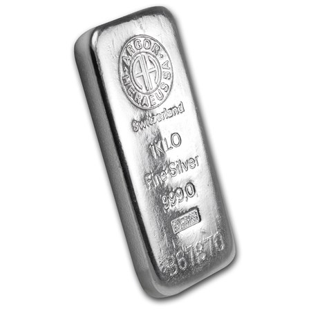 1 Kilo Silver Bar Argor Heraeus Switzerland Kilo 32