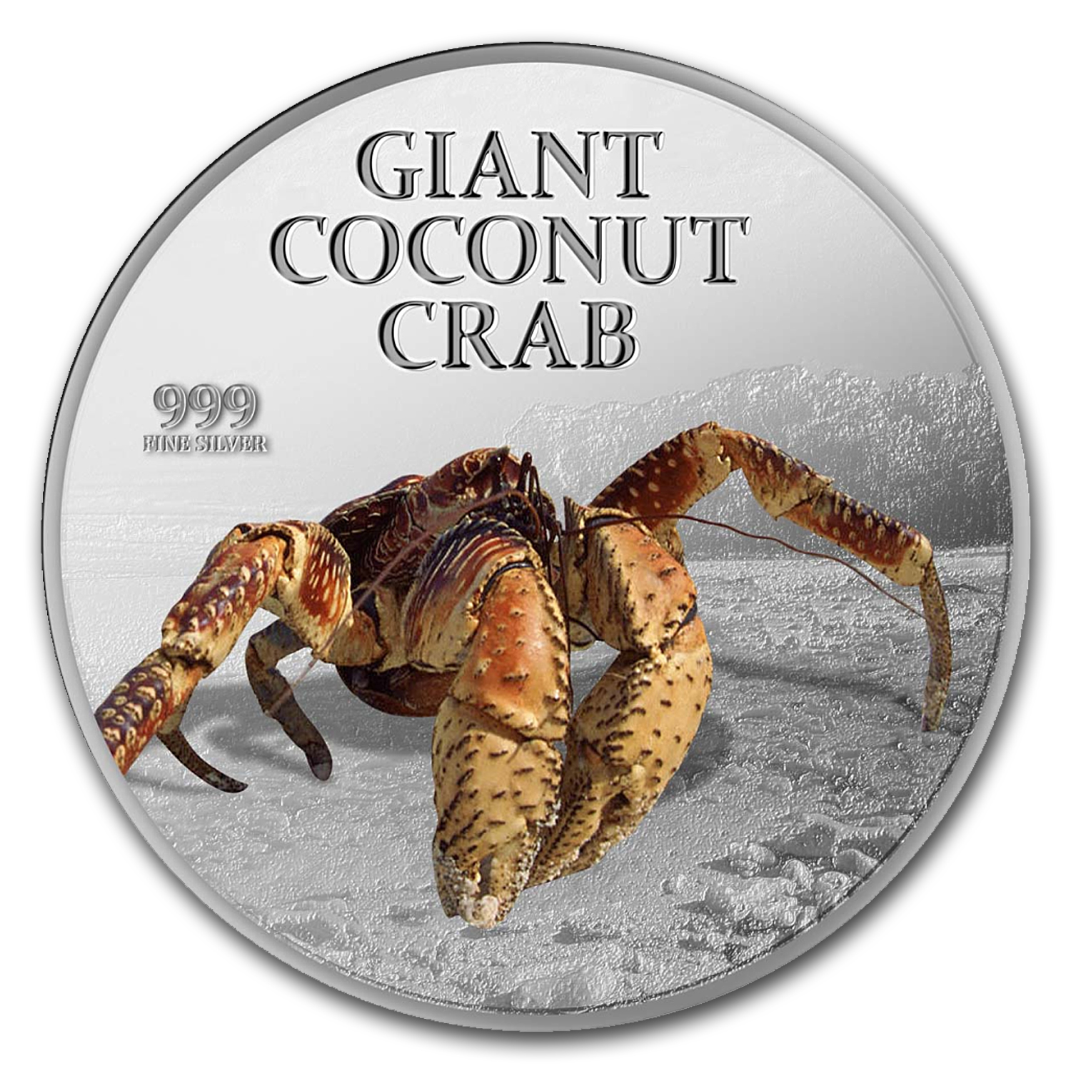 2013 Niue 1 oz Silver $2 Giant Coconut Crab Coin in Box