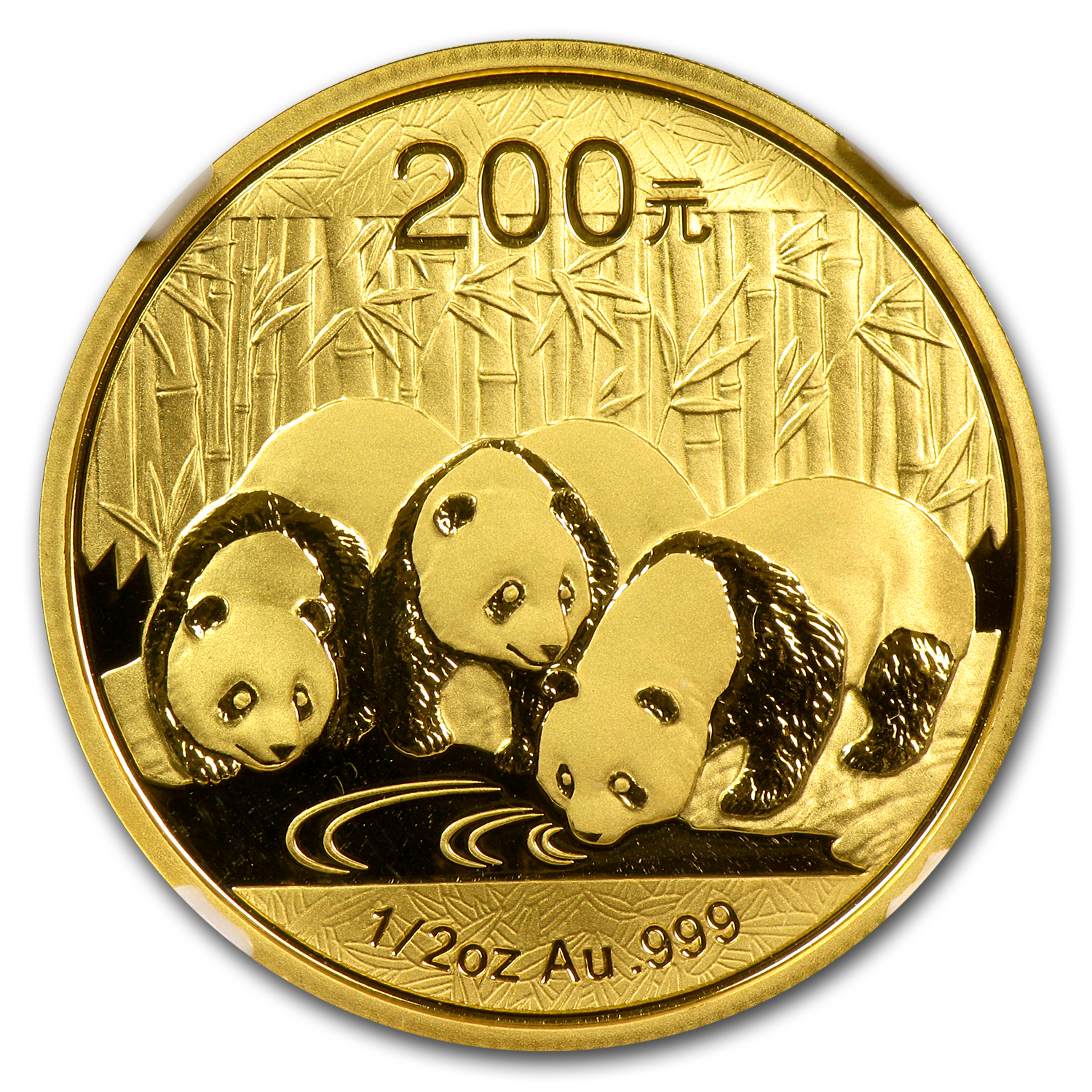 2013 (1/2 oz) Gold Chinese Panda - MS-70 NGC (ER)