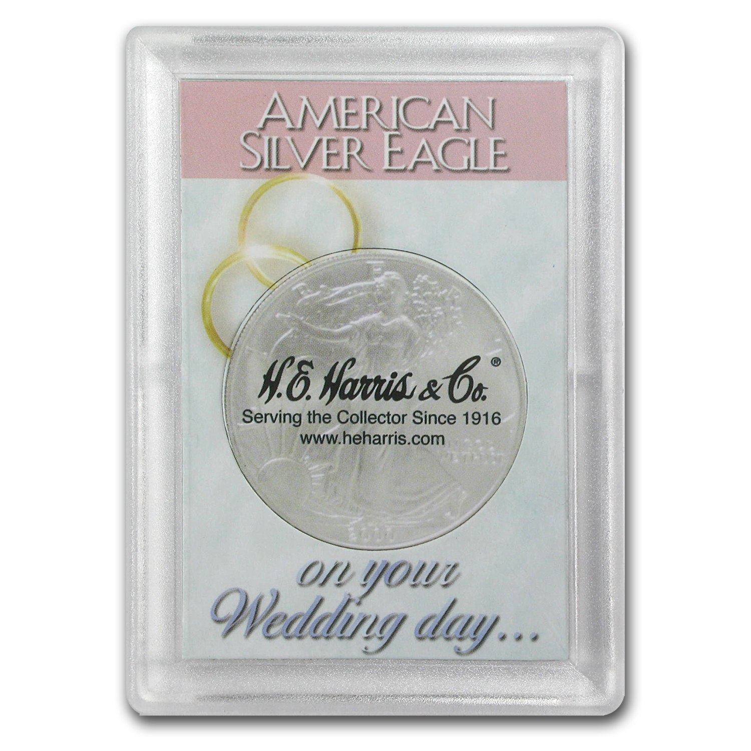 Silver American Eagle Harris Holder (Wedding Day Design)