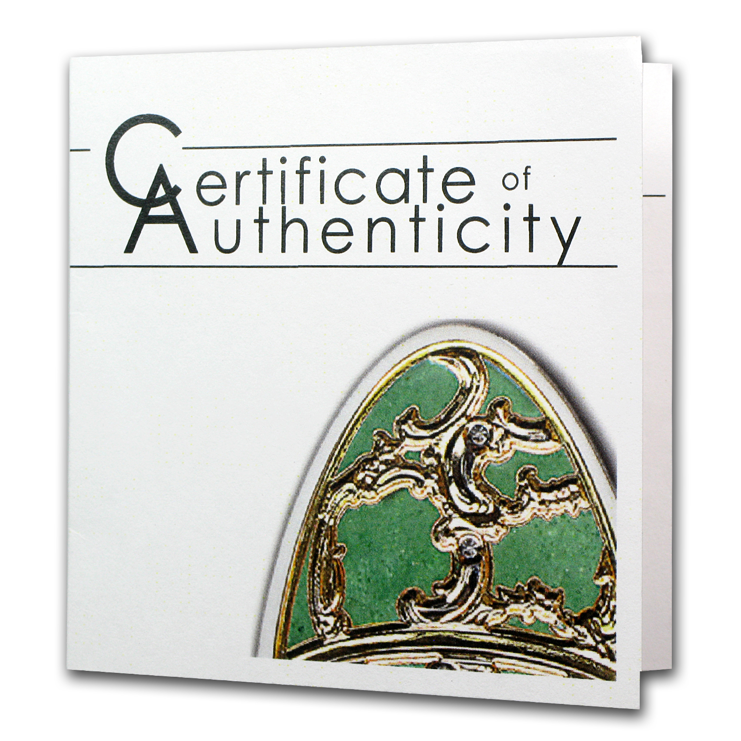 2013 Cook Islands Silver Proof Imperial Egg in Cloisonné Olive