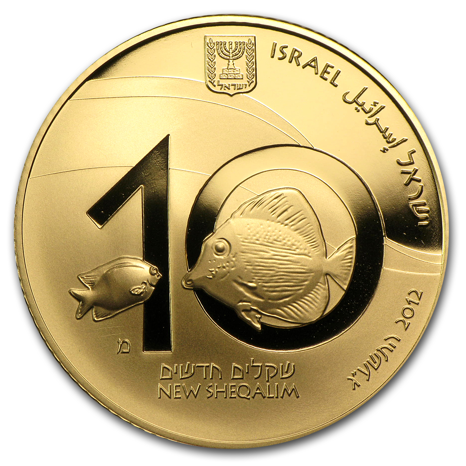 2012 Israel 1/2 oz Gold Coral Reef, Eilat Proof