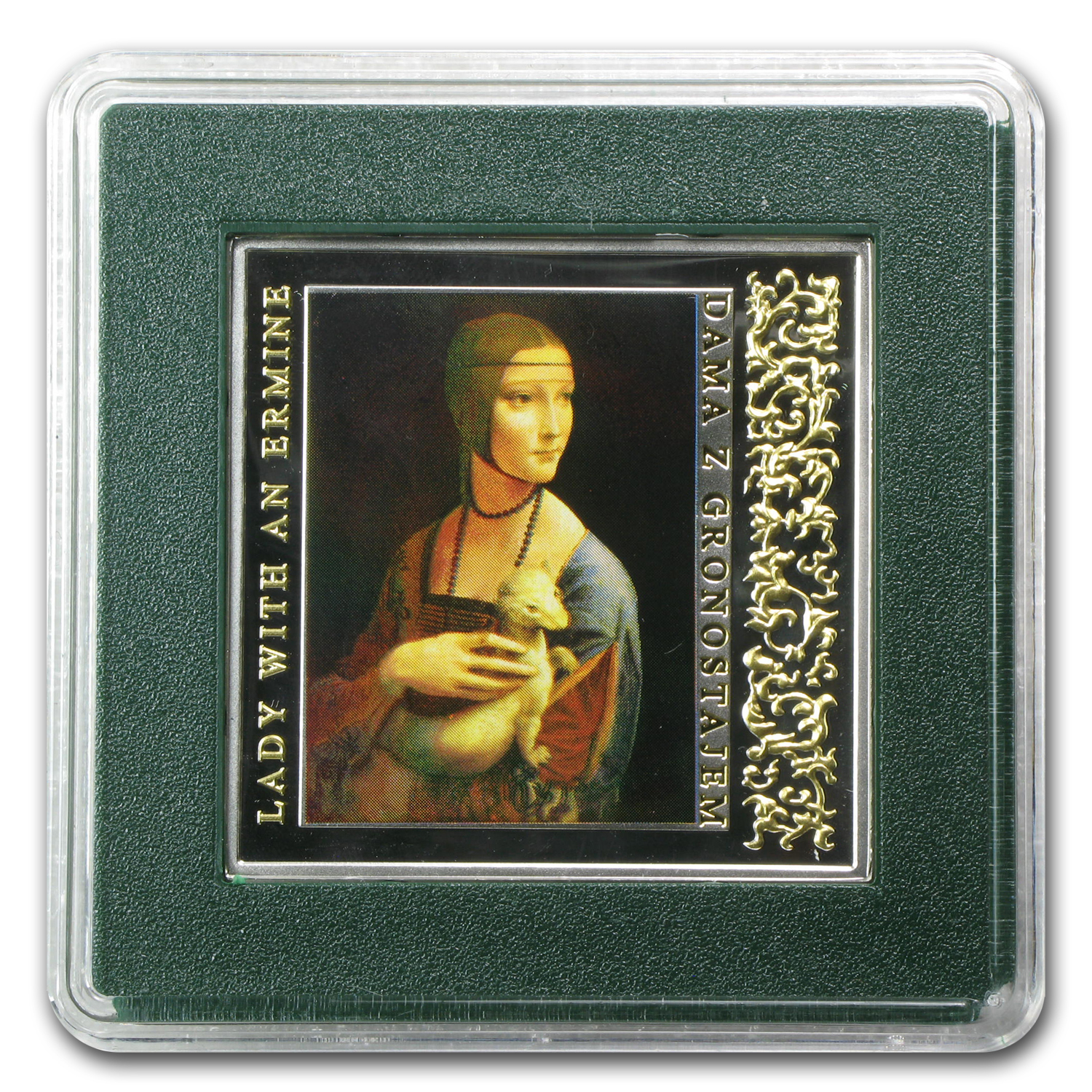 2012 Niue Proof Silver $1 Leonardo da VinciLady with an Ermine