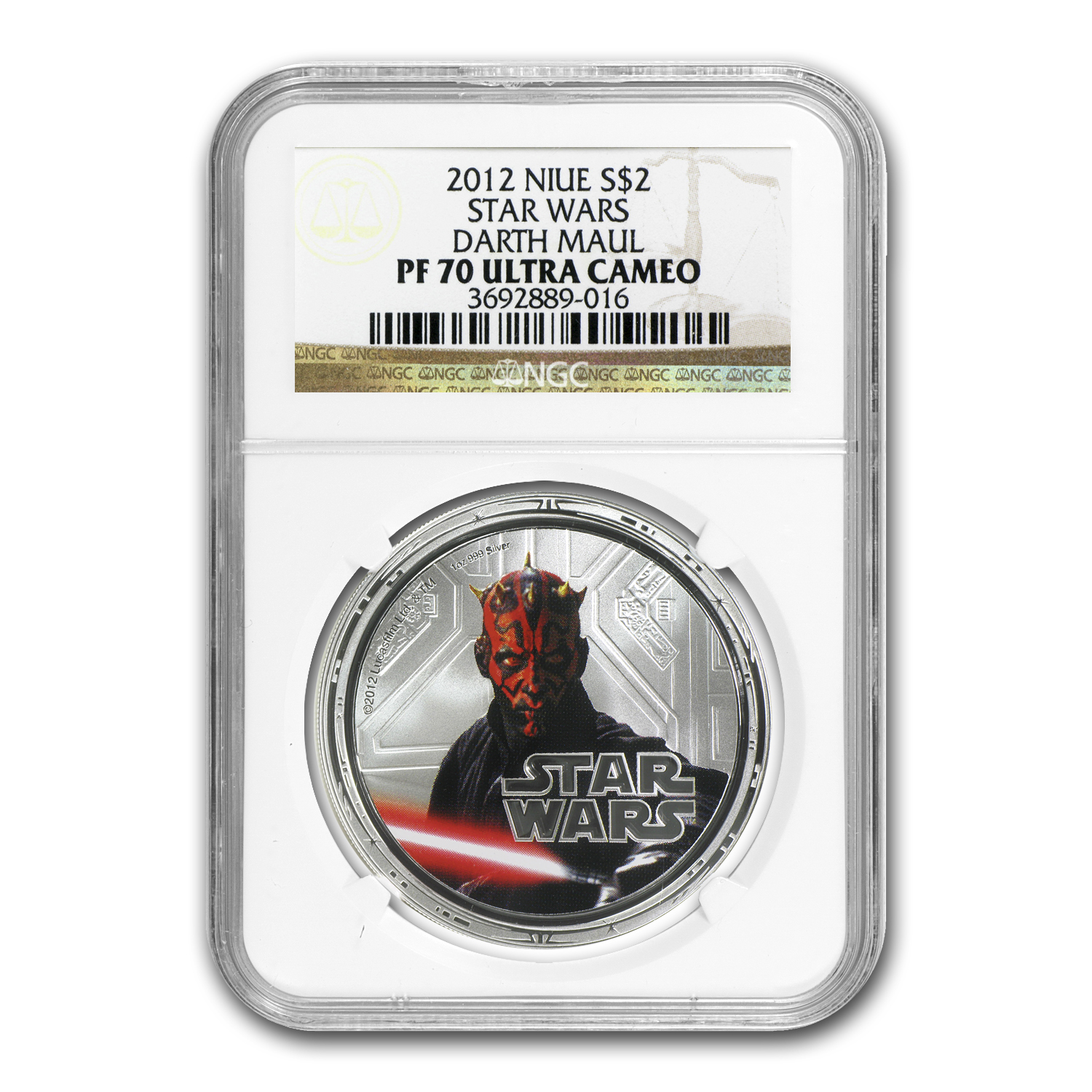 2012 Niue 1 oz Silver $2 Star Wars Darth Maul PF-70 NGC