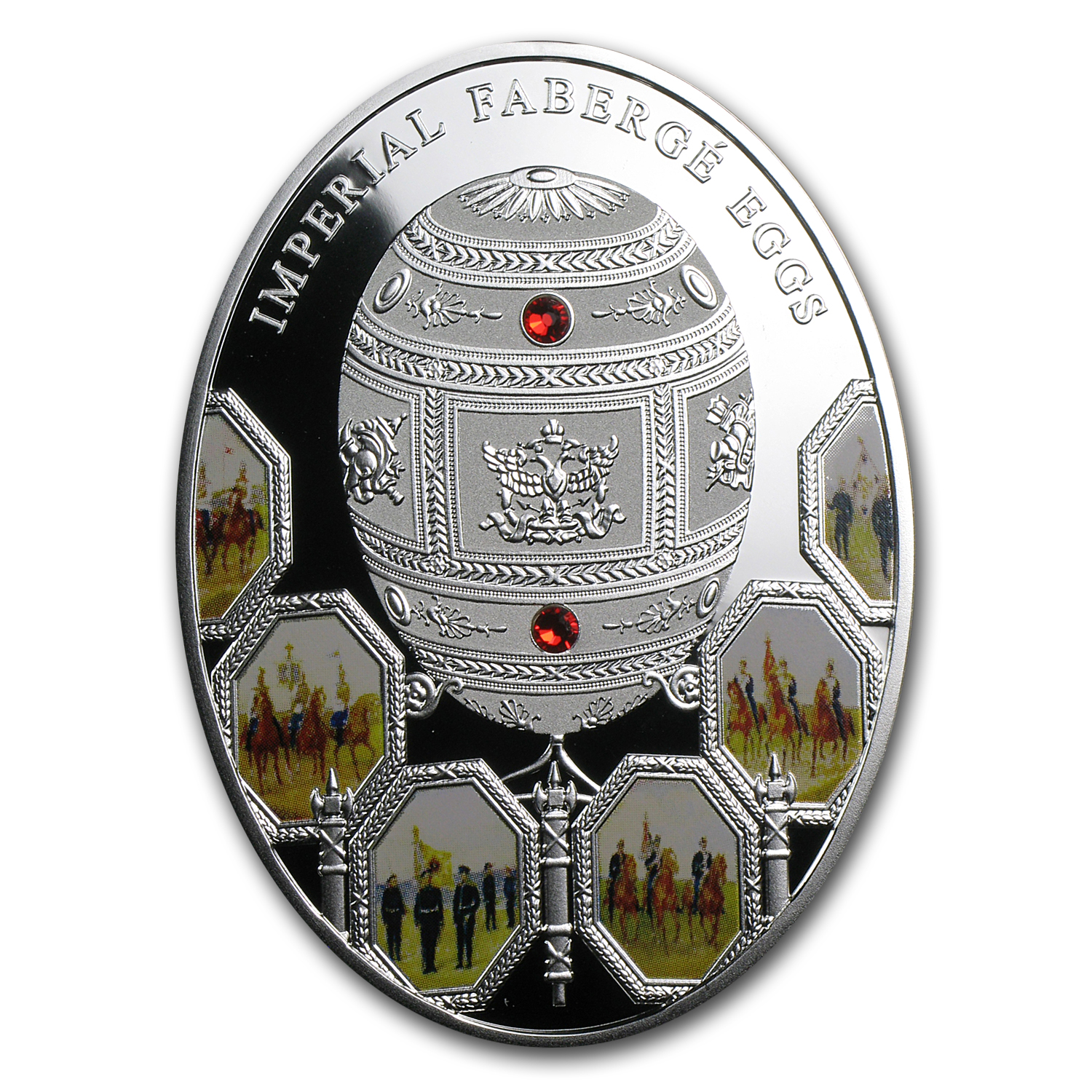 2012 Niue Silver Imperial Faberge Eggs 100th Anniv War of 1812