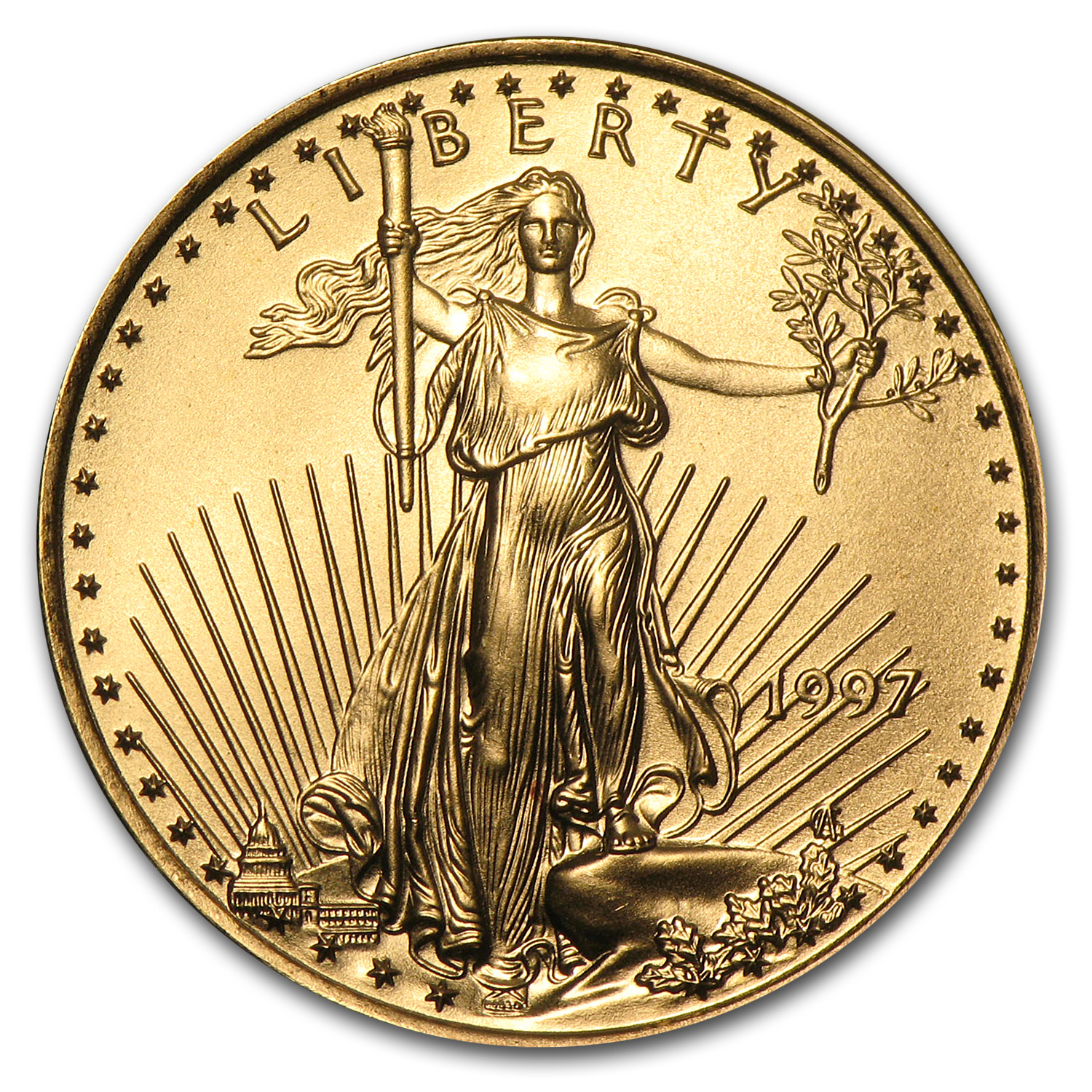 1997 1/4 oz Gold American Eagle BU