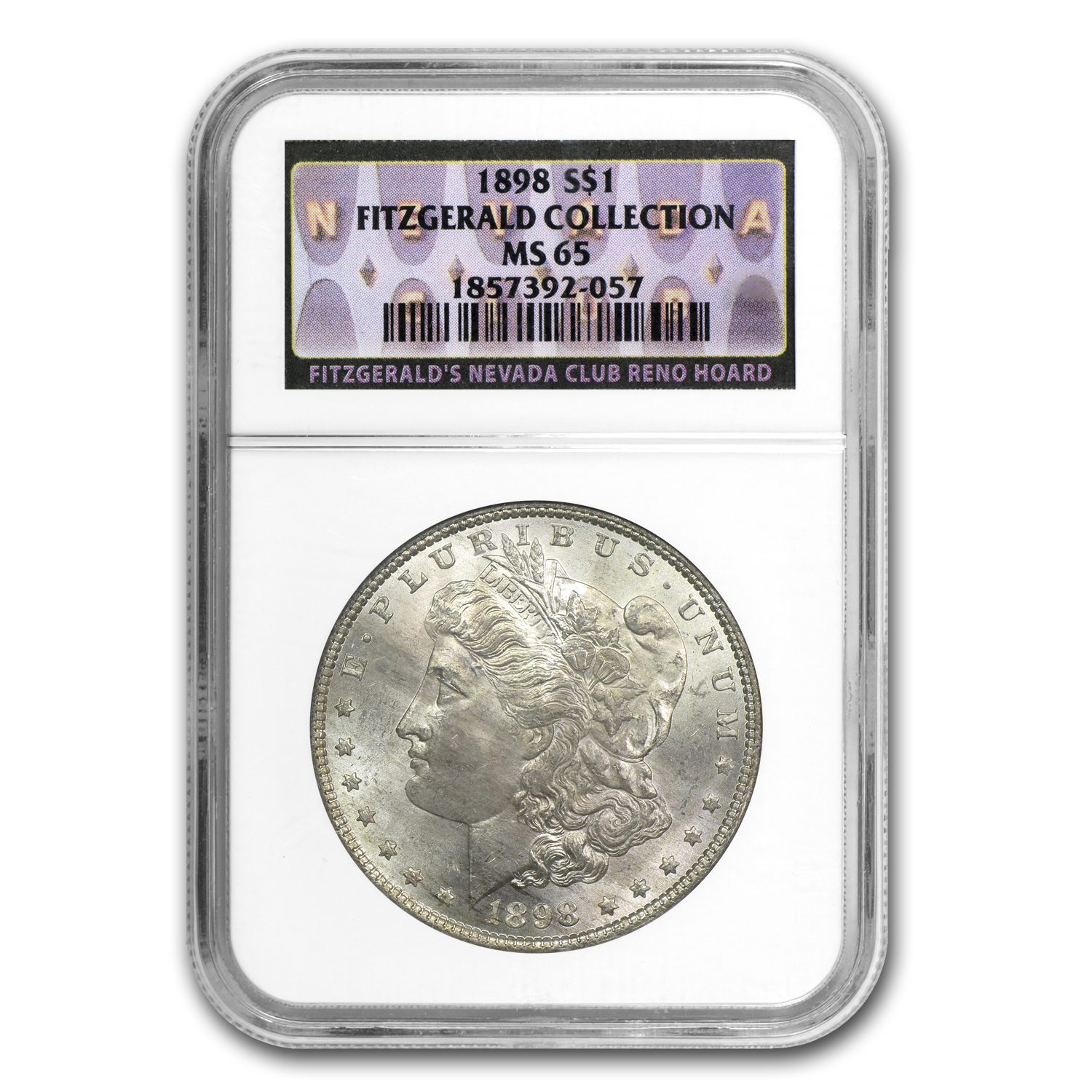 1898 Morgan Dollar MS-65 NGC Fitzgerald Collection