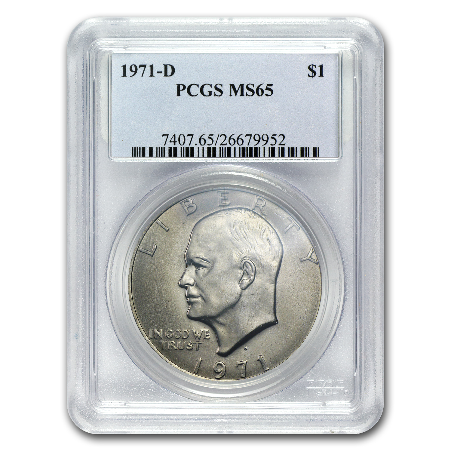 1971-D Eisenhower Dollar MS-65 PCGS