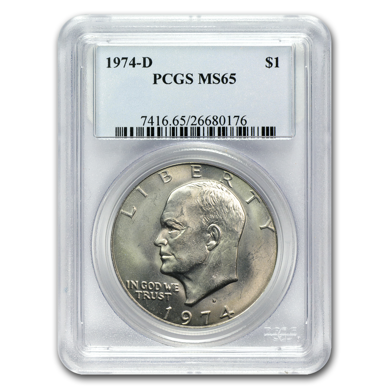 1974-D Clad Eisenhower Dollar MS-65 PCGS