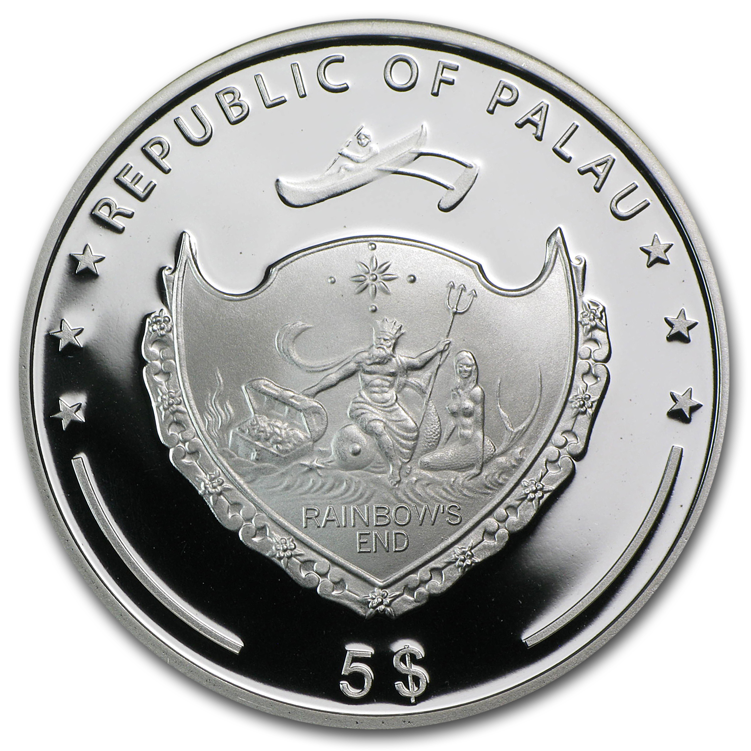2008 Palau Proof Silver $5 Pioneers of the Sky Red Baron