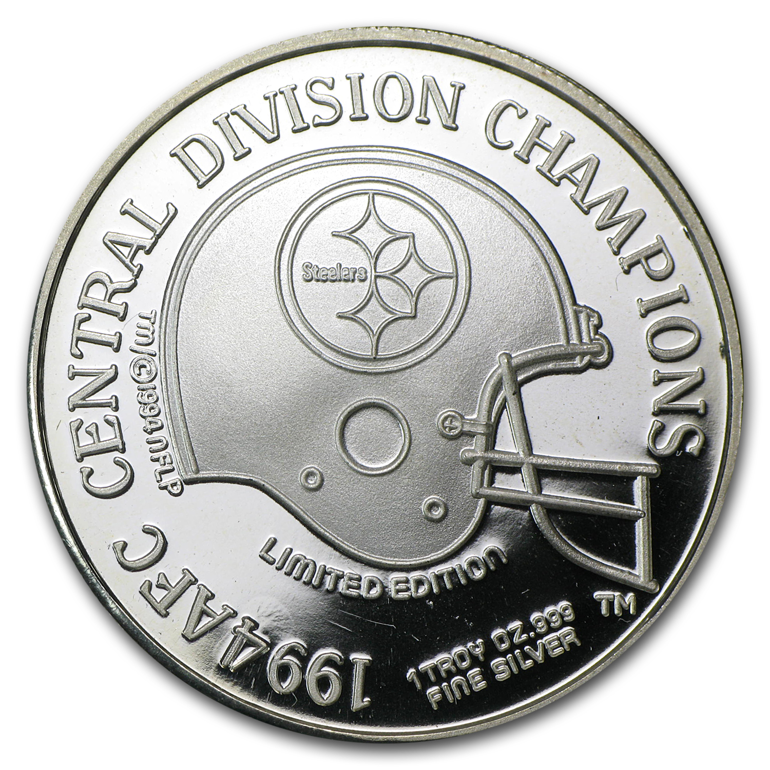 1 oz Silver Round - AFC Central Division Champions (1994)