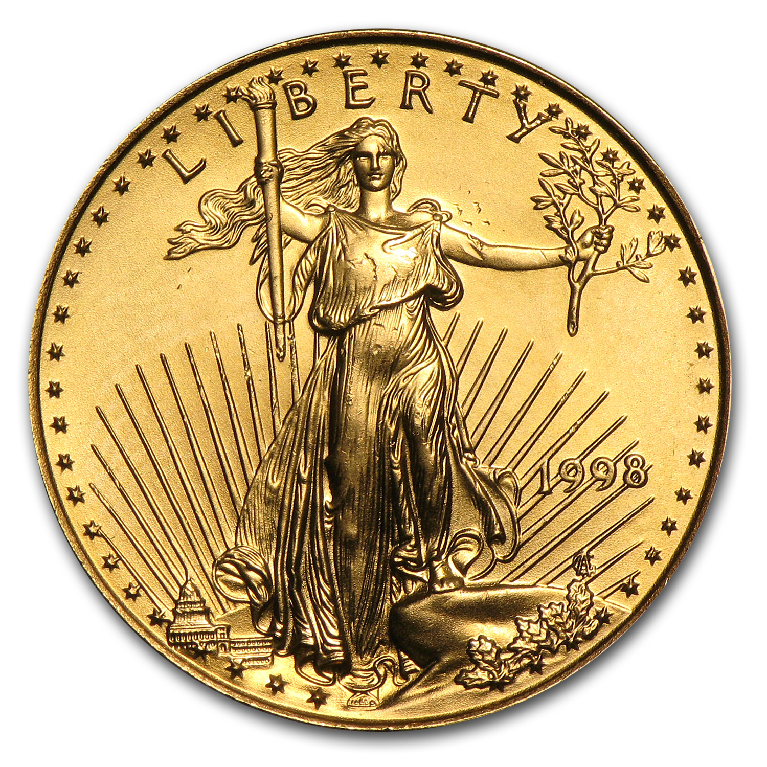 1998 1/4 oz Gold American Eagle (BU)