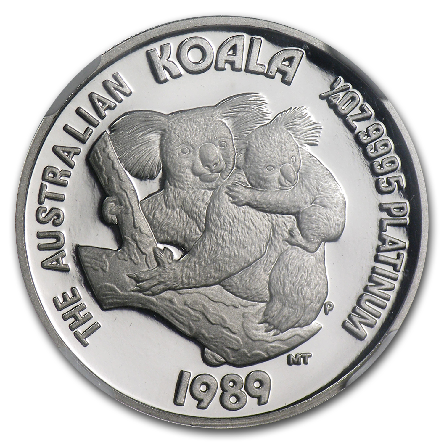 1989 Australia 1/4 oz Proof Platinum Koala PF-70 NGC