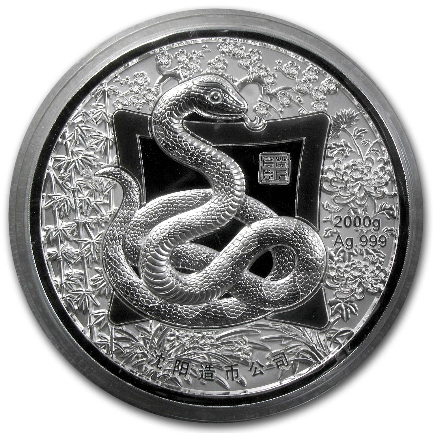 2013 2 Kilo Silver Year of the Snake Round