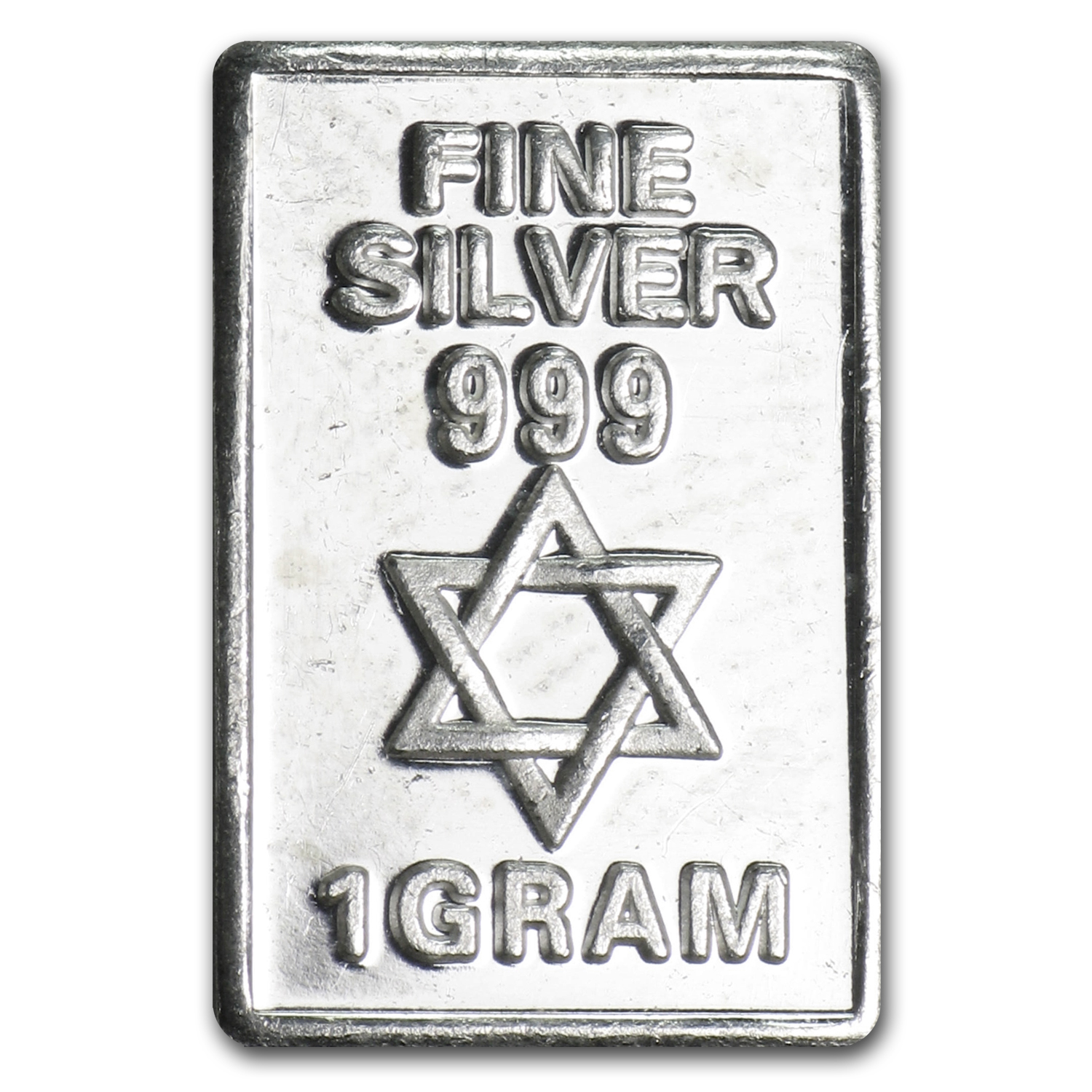 1 gram Silver Bar - Star of David
