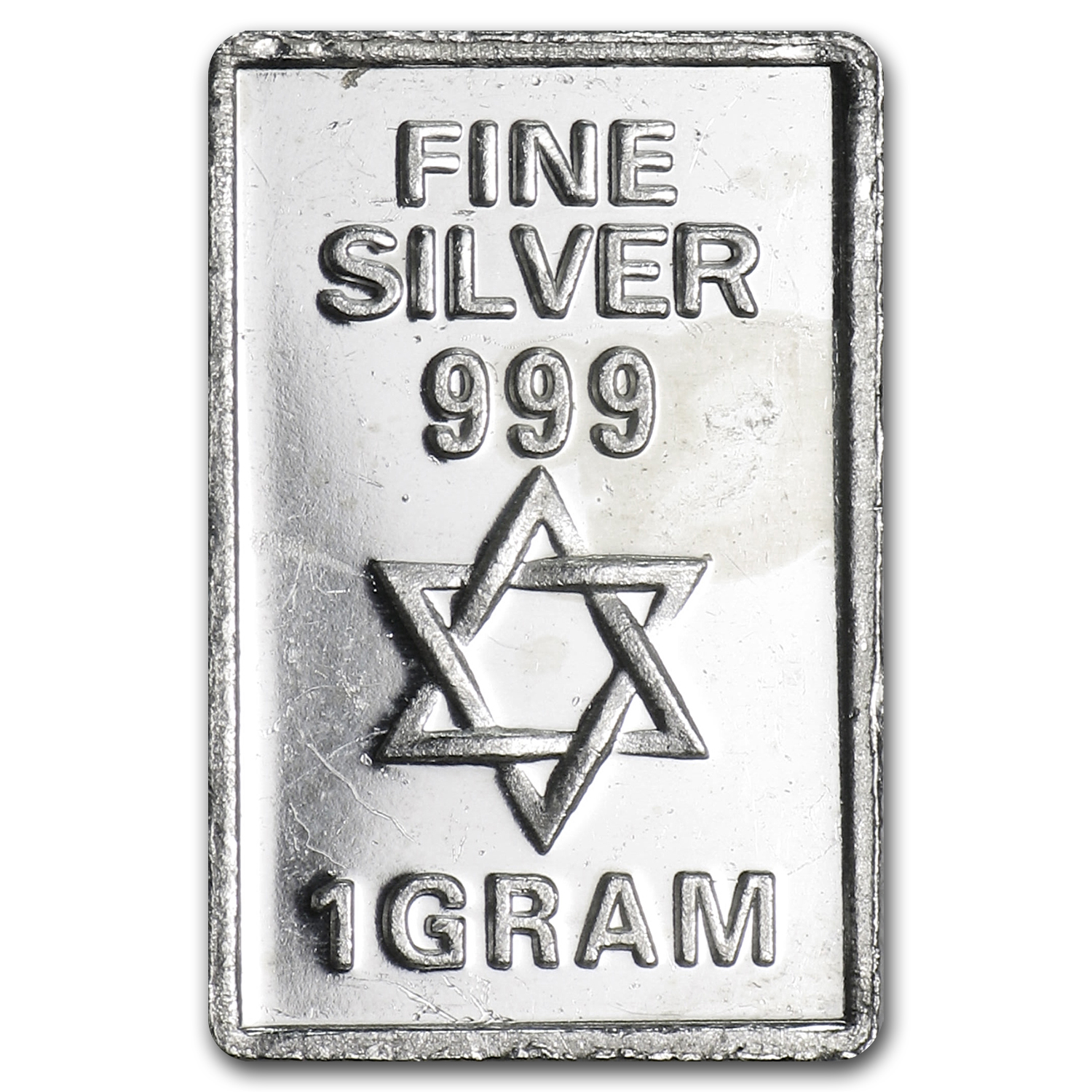 1 gram Silver Bars - Star of David