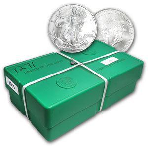 2005 Silver American Eagle 500-Coin Monster Box (Sealed, FS)