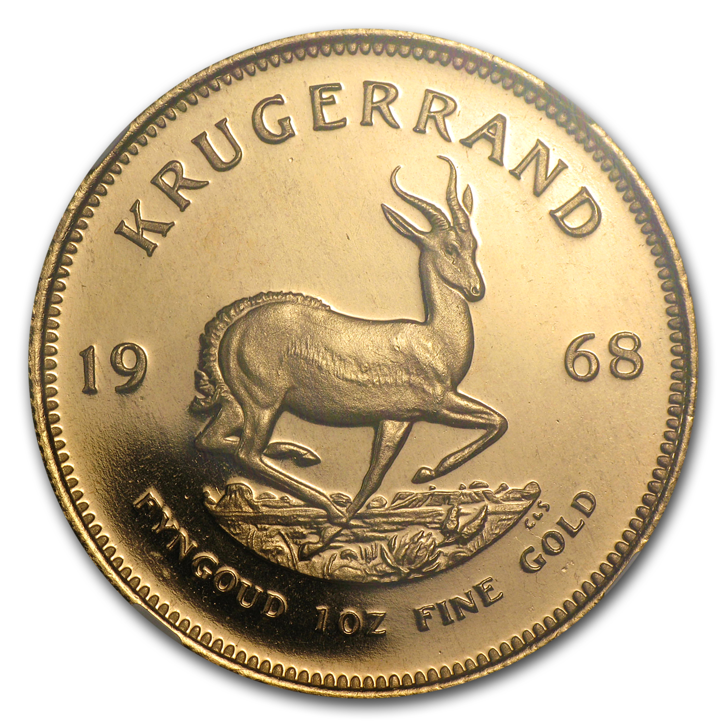 1968 South Africa 1 oz Gold Krugerrand PF-68 NGC
