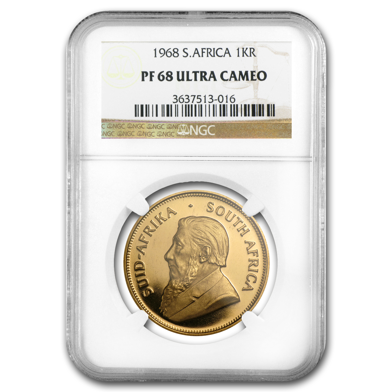 1968 1 oz Gold South African Krugerrand PF-68 UCAM NGC