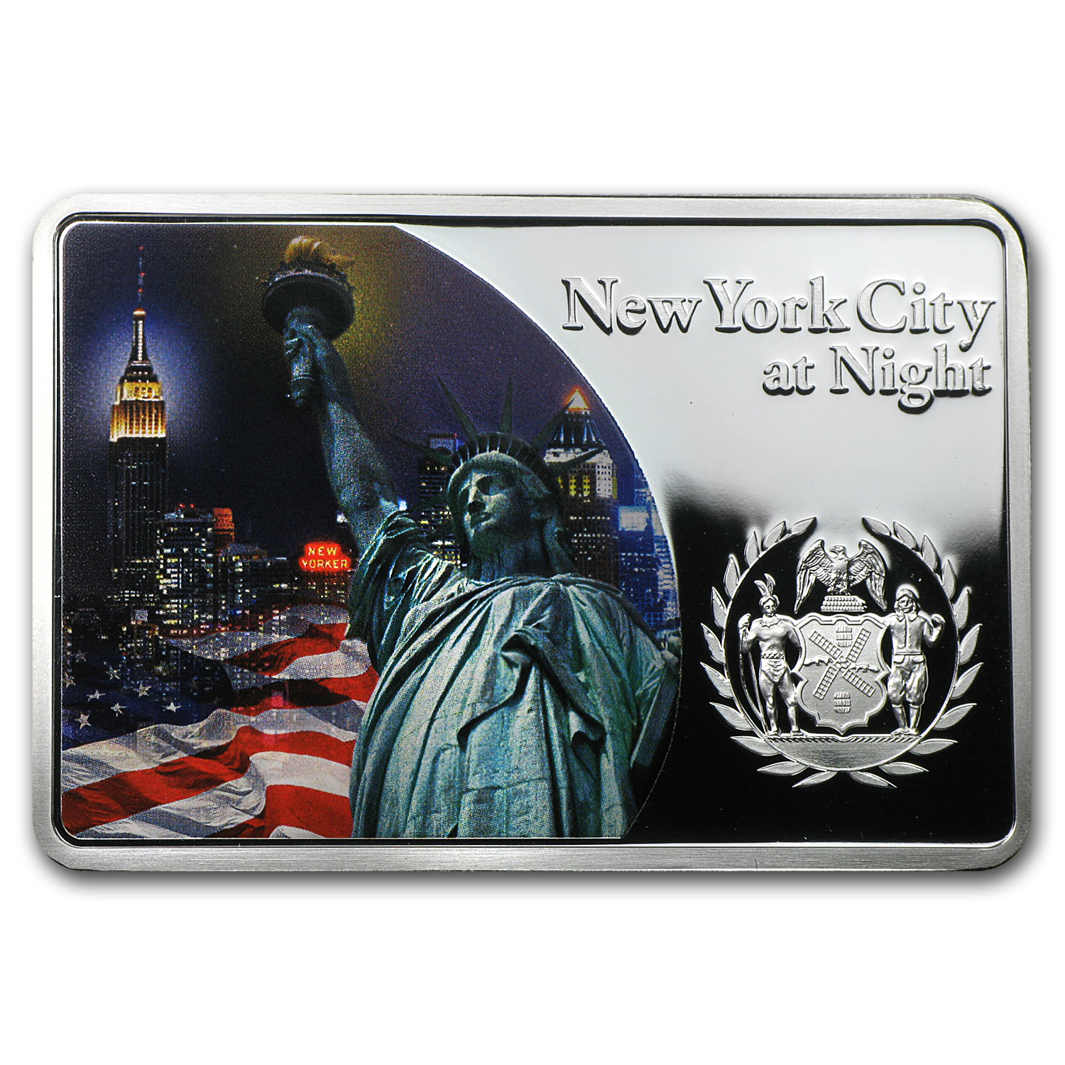2012 Fiji 1 oz Proof Silver $10 Cities at Night New York City