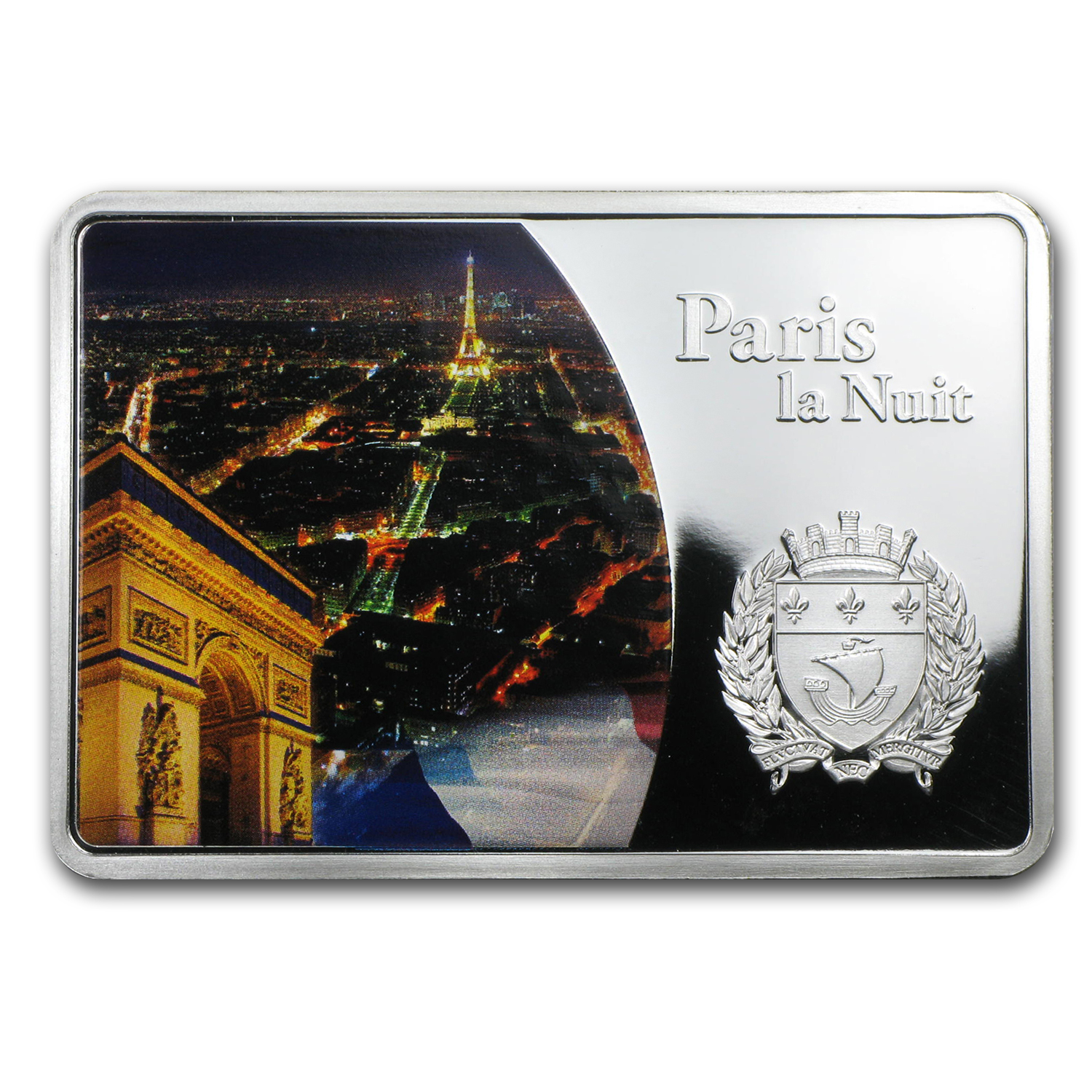 2012 Fiji 1 oz Proof Silver $10 Cities at Night Paris