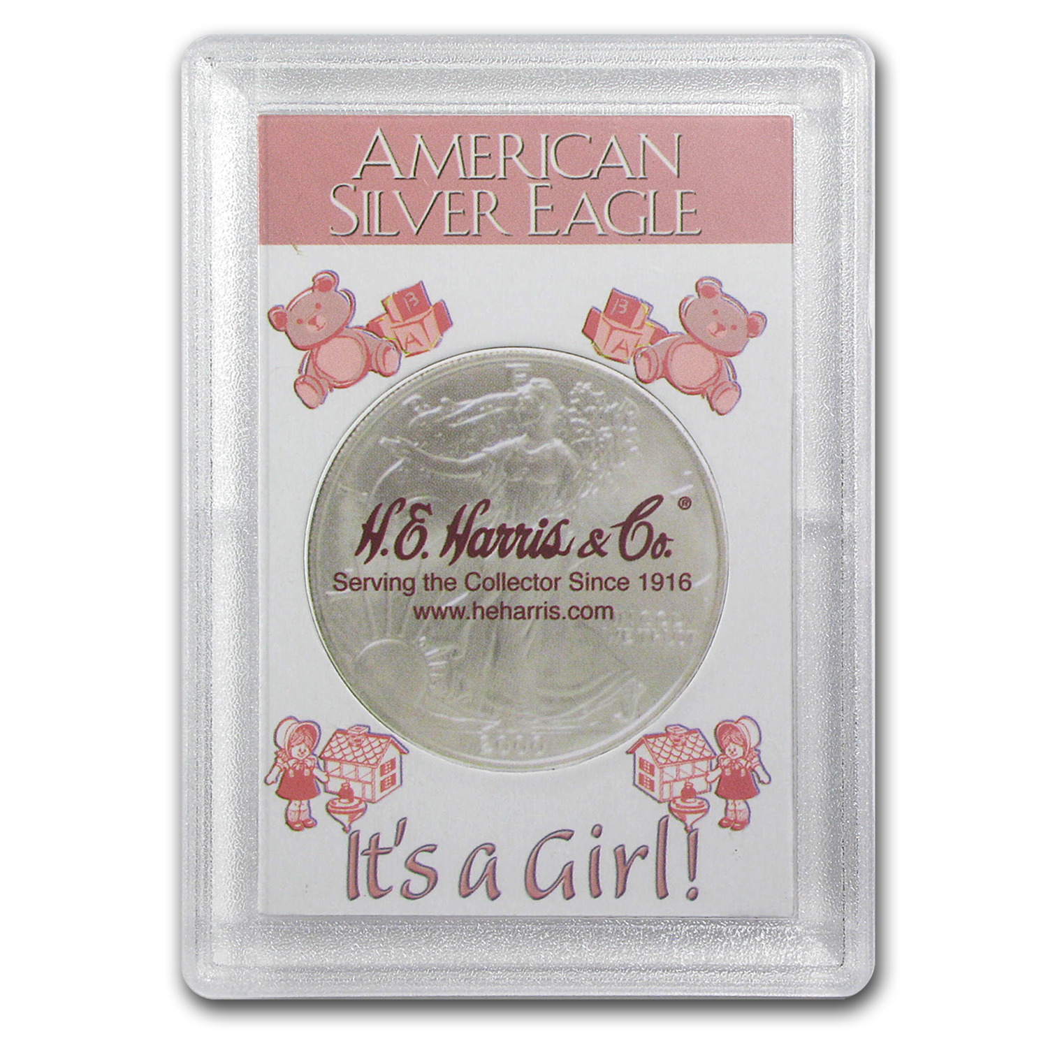 Silver American Eagle Harris Holder (It's A Girl! Design)
