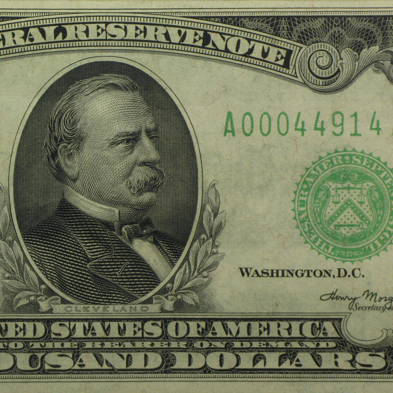 1934-A (A-Boston) $1,000 FRN XF-40 Net PMG