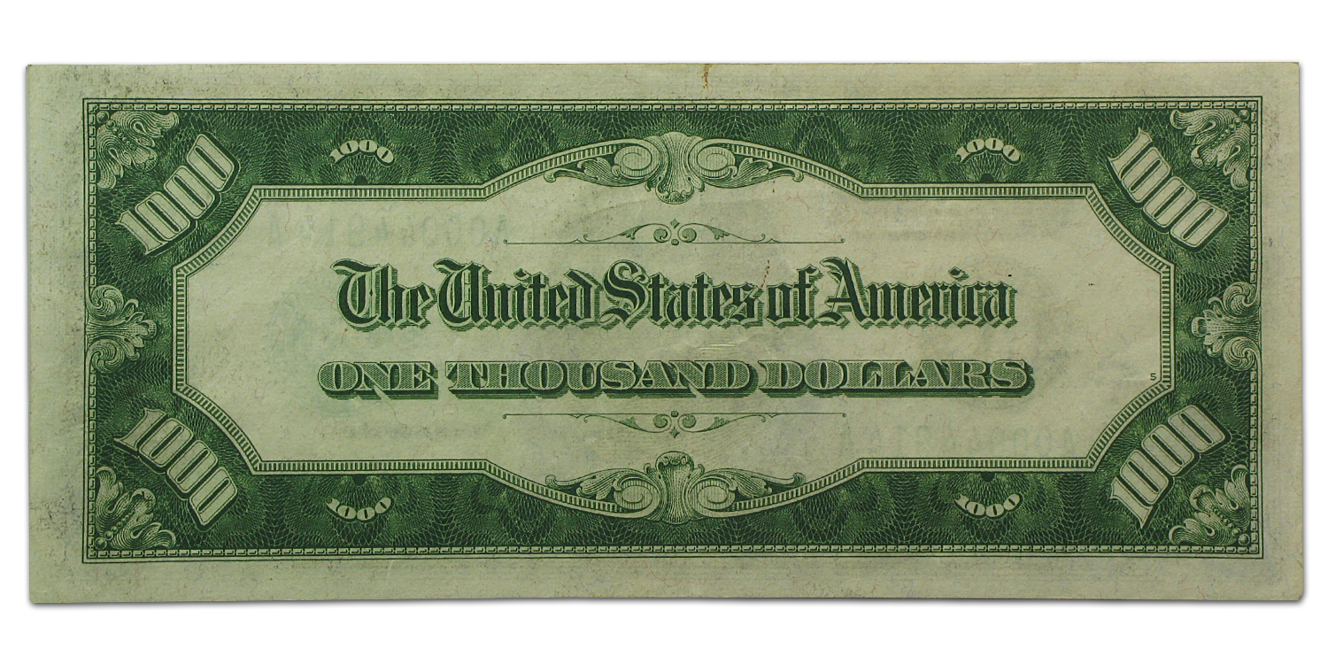 1934-A (A-Boston) $1,000 FRN PMG (Extra Fine)-40 Net)