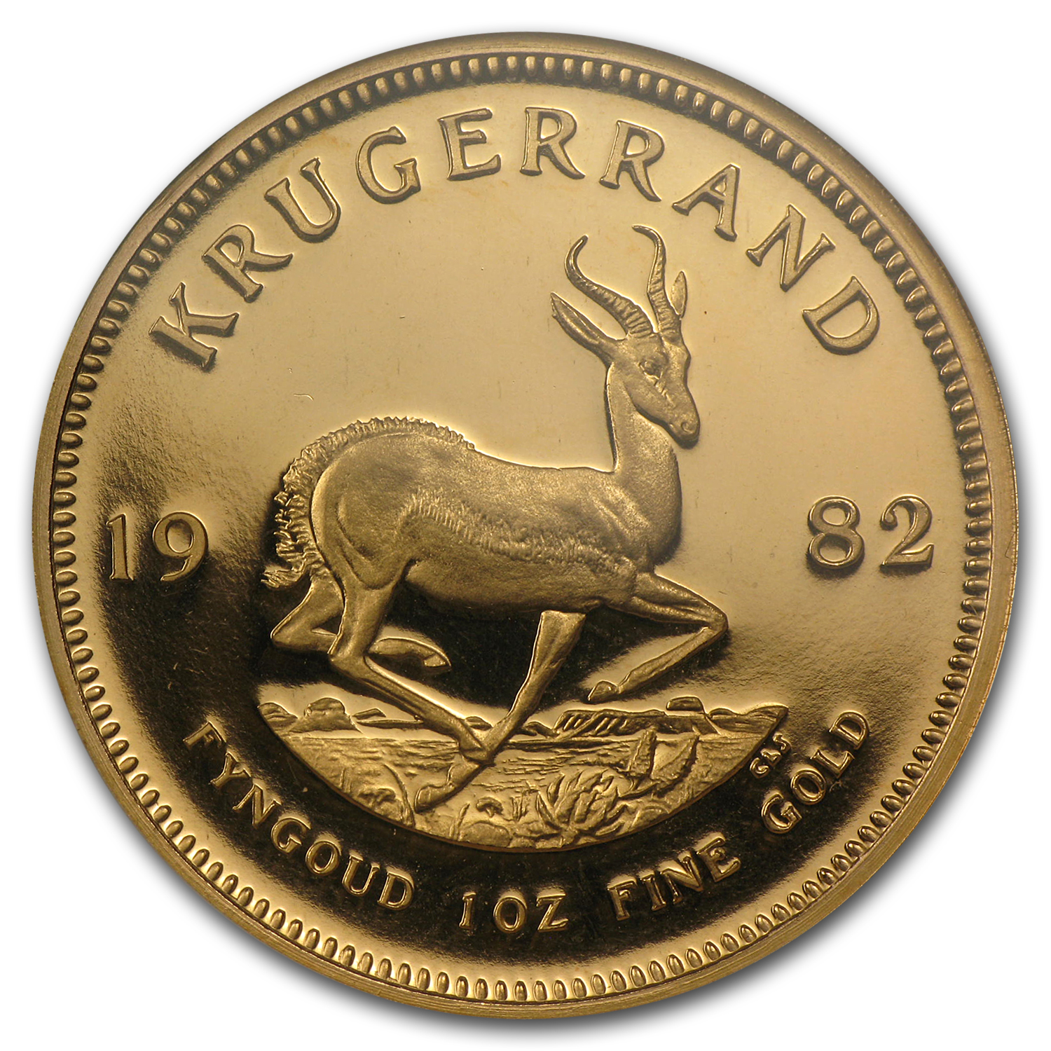 1982 1 oz Gold South African Krugerrand PF-67 NGC
