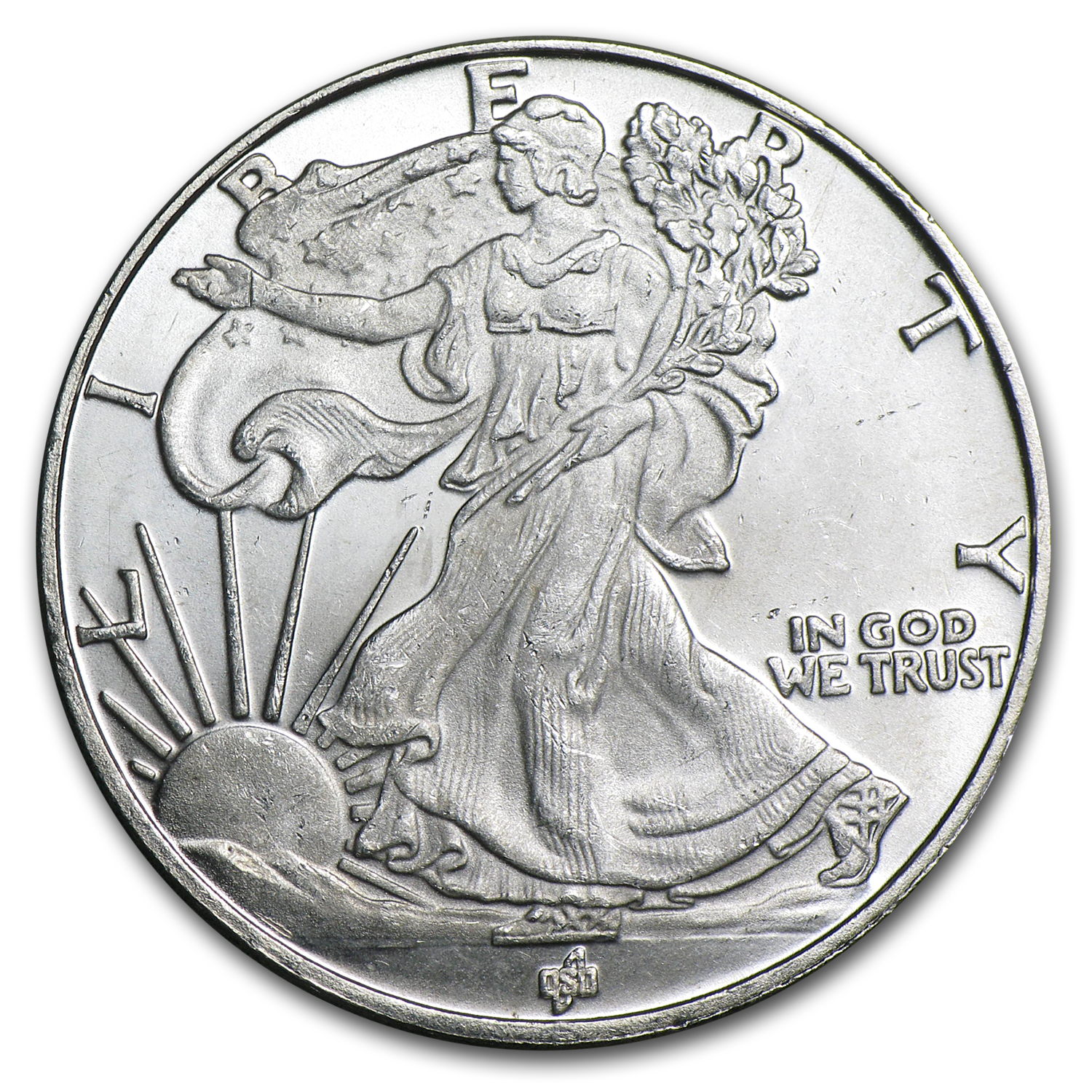 1/2 oz Silver Round - Walking Liberty Half (Fractional)