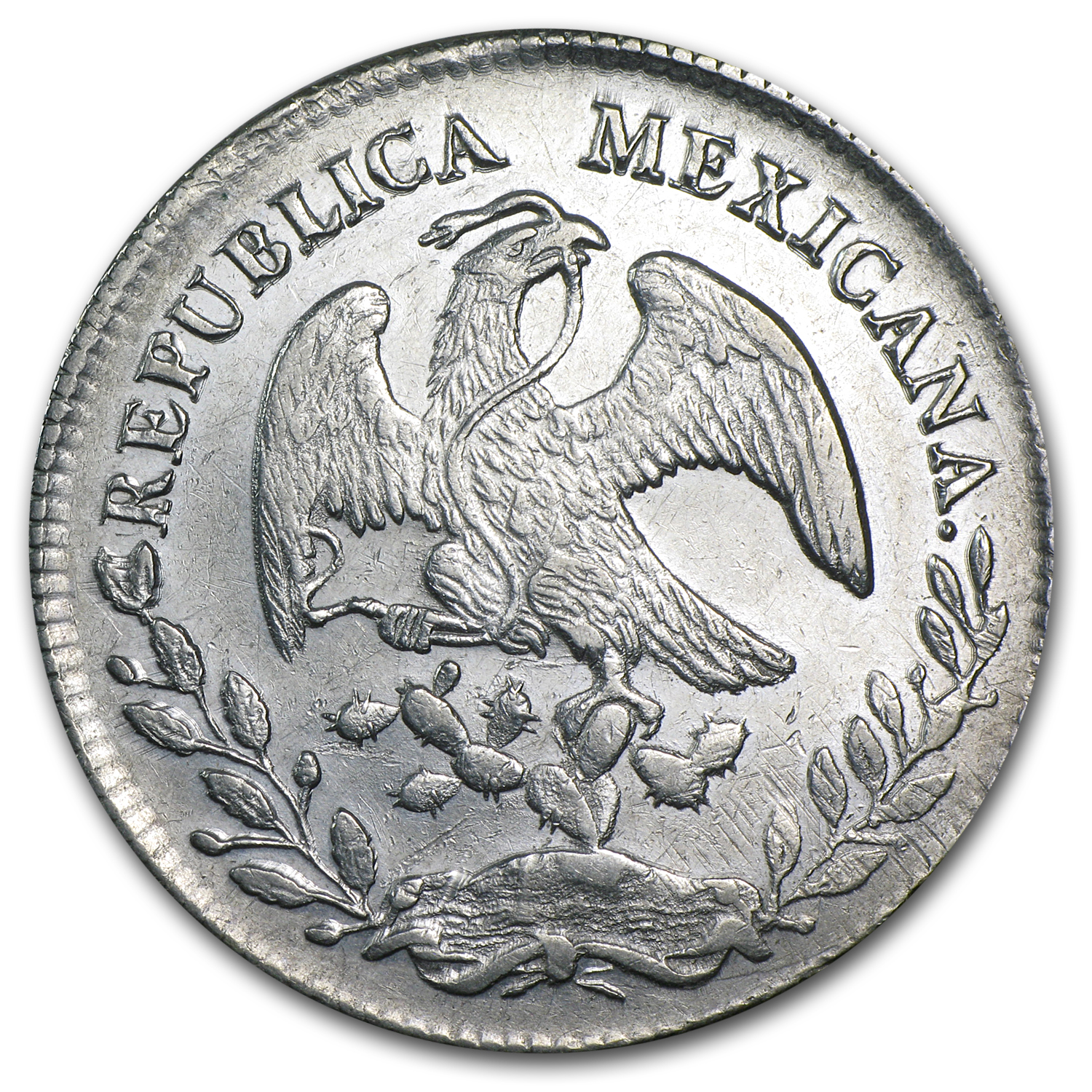 Mexico 1878 Do TB 8 Reales Silver AU