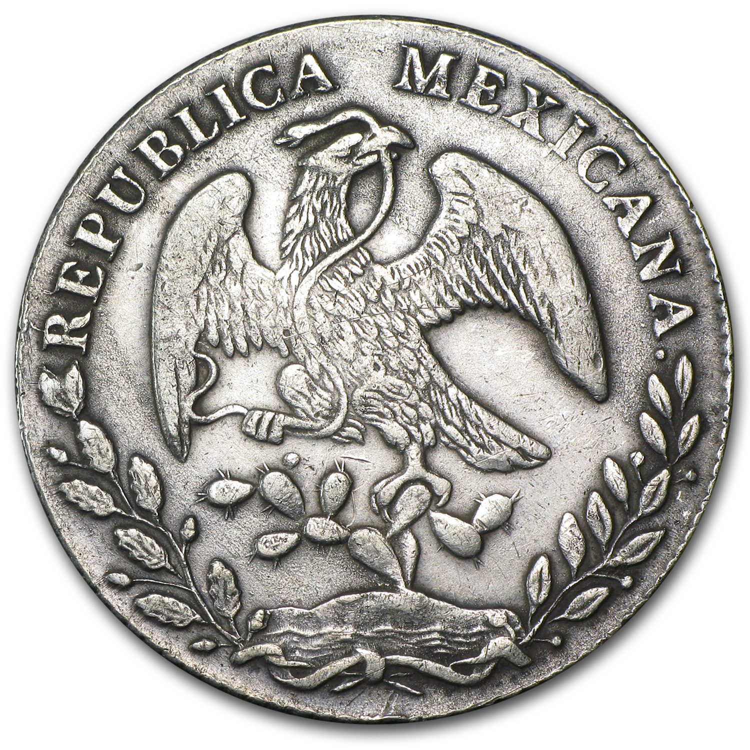 Mexico 1879 Pi MR 8 Reales Silver VF+