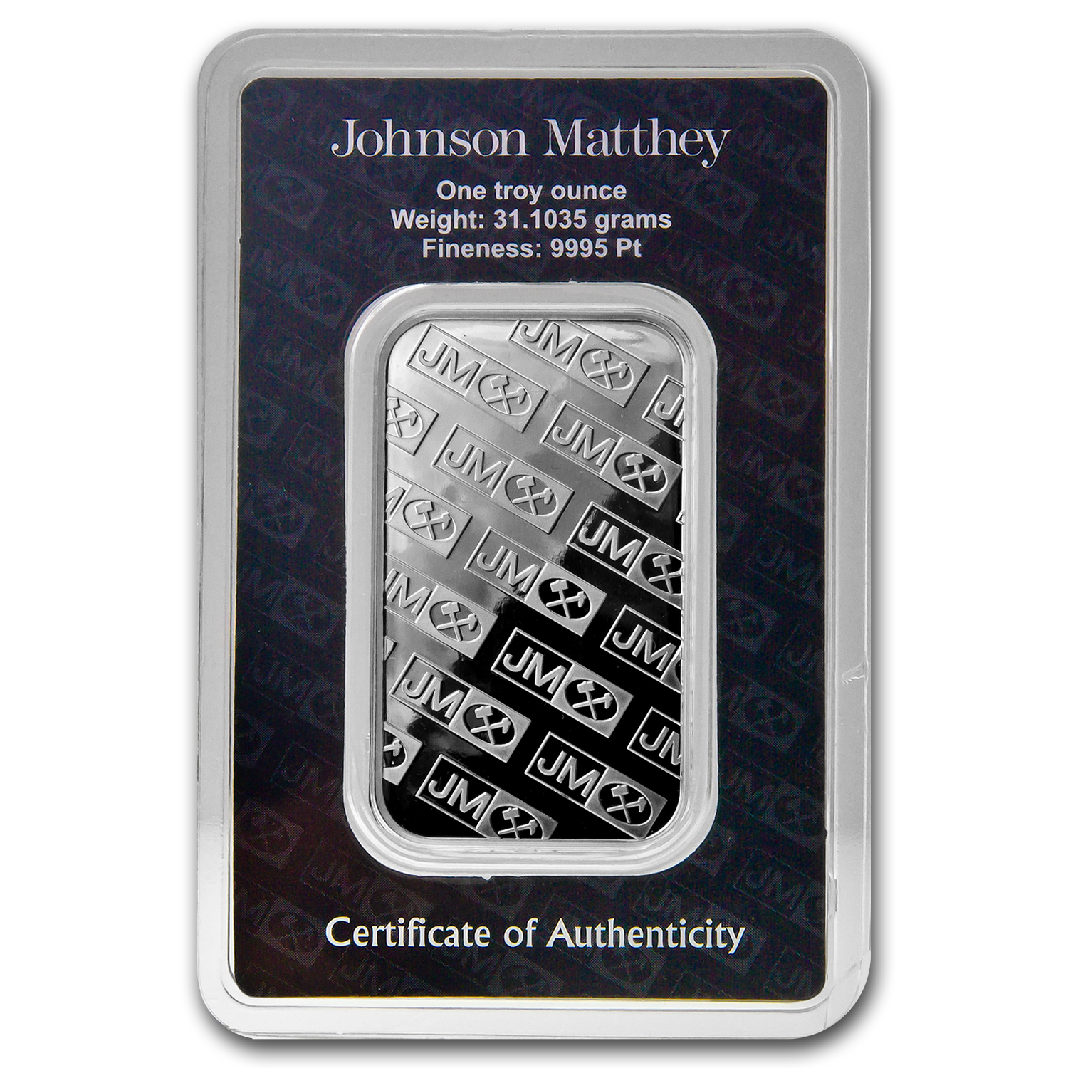 1 oz Johnson Matthey Platinum Bar (In Assay) .999+ Fine